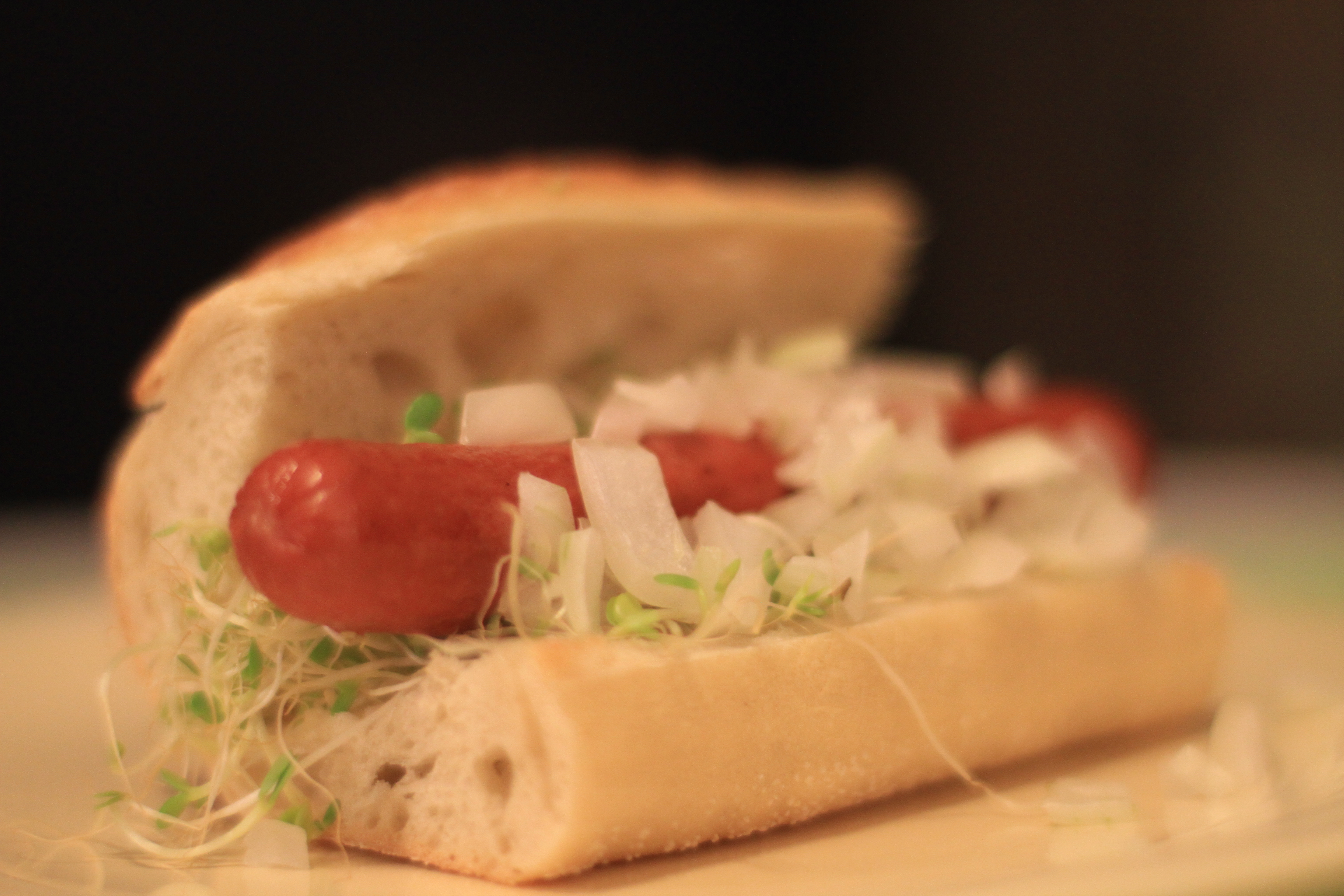 Mediterranean-style hot dog