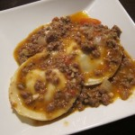 Goat Cheese Ravioli al Ragu