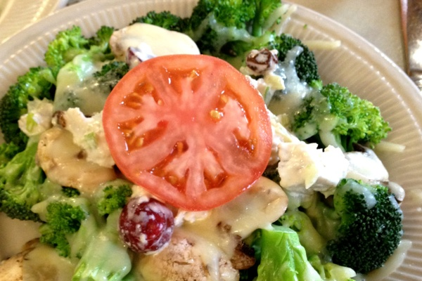 broccoli with chicken saladc