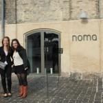 My roommates Cheryl, Sara, and me. Awkward and windblown outside of Noma