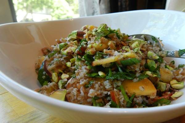 Cracked Wheat Nectarine salad 2
